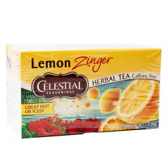 CELESTIAL SEASONINGS LEMON ZINGER TEA 20 CT BOX
