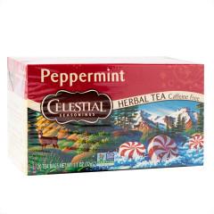 CELESTIAL SEASONINGS PEPPERMINT HERBAL TEA 20 CT BOX