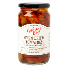 NATURE'S BEST OVEN DRIED TOMATOES IN OIL WITH OLIVES 16 OZ JAR