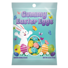 AMUSEMINTS GUMMY EASTER EGGS PEG BAG