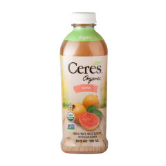 CERES ORGANIC GUAVA JUICE 30 OZ BOTTLE