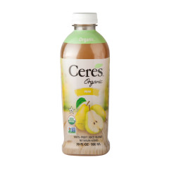 CERES ORGANIC PEAR JUICE 30 OZ BOTTLE