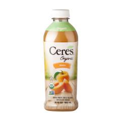 CERES ORGANIC PEACH JUICE 30 OZ BOTTLE