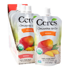 CERES ORGANIC MANGO SMOOTHIE TO GO 3.5 OZ POUCH