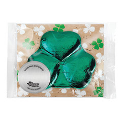 AMUSEMINTS FOIL SHAMROCK MILK CHOCOLATE 3OZ