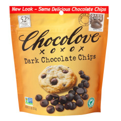CHOCOLOVE DARK CHOCOLATE BAKING CHIPS 11 OZ POUCH