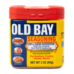 OLD BAY SEASONING 30% LESS SODIUM 2 OZ SHAKER