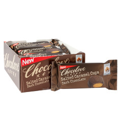 CHOCOLOVE DARK CHOCOLATE SALTED CARAMEL CUPS 1.2 OZ