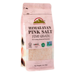 HIMALAYAN CHEF PINK SALT FINE GRAIN 16 OZ BAG