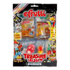 EFRUTTI TREASURE HUNT GUMMY 2.7 OZ PEG BAG