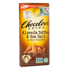 CHOCOLOVE DARK CHOCOLATE ALMOND TOFFEE AND SEA SALT 3.2 OZ