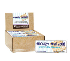 AMUSEMINTS BAR ENOUGH MATZOH MILK CHOCOLATE 1.75OZ