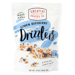 CREATIVE SNACKS LEMON BLUEBERRY GRANOLA DRIZZLERS 10 OZ POUCH