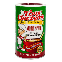 TONY CHACHERE'S MORE SPICE CREOLE SEASONING 7 OZ SHAKER