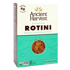 ANCIENT HARVEST ORGANIC SUPERGRAIN PASTA-ROTINI 8 OZ BOX