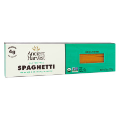 ANCIENT HARVEST ORGANIC SUPERGRAIN PASTA SPAGHETTI 8 OZ BOX