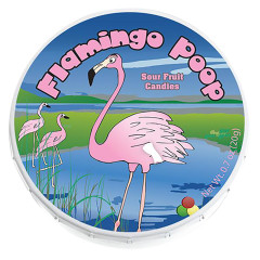 AMUSEMINTS FLAMINGO POOP SOUR FRUIT CANDY *FL DC ONLY*