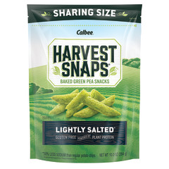 CALBEE HARVEST SNAPS LIGHTLY SALTED 10 OZ POUCH