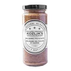 KOZLIK'S BALSAMIC FIG & DATE MUSTARD 8 OZ JAR
