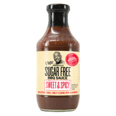 G HUGHES SUGAR FREE SWEET & SPICY BBQ SAUCE 18 OZ BOTTLE