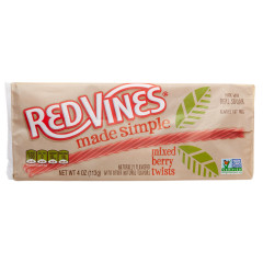 RED VINES MADE SIMPLE BERRY 4 OZ TRAY *SF DC ONLY*