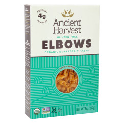 ANCIENT HARVEST ORGANIC SUPERGRAIN ELBOW PASTA 8 OZ BOX