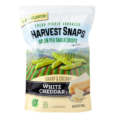 CALBEE HARVEST SNAPS WHITE CHEDDAR 10 OZ POUCH