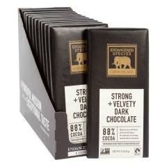 ENDANGERED SPECIES 88% DARK CHOCOLATE 3 OZ BAR