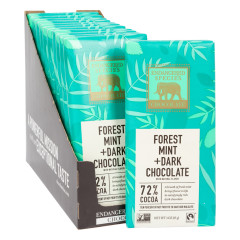 ENDANGERED SPECIES DARK CHOCOLATE WITH FOREST MINT 3 OZ BAR