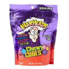 WARHEADS CHEWY CUBES 10 OZ POUCH