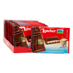 LOACKER MILK CHOCOLATE WITH MILK CREAM FILLING AND CRISPY WAFER 1.94 OZ BAR