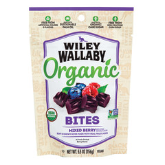 WILEY WALLABY MIXED BERRY ORGANIC BITES 5.5 OZ PEG BAG *SF DC ONLY*