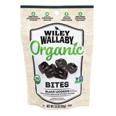 WILEY WALLABY BLACK ORGANIC BITES 5.5 OZ PEG BAG *SF DC ONLY*