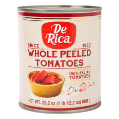 DE RICA WHOLE PEELED TOMATOES 28.2 OZ CAN