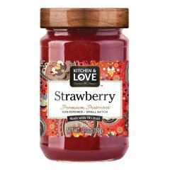 KITCHEN & LOVE STRAWBERRY PRESERVES 12.3 OZ JAR