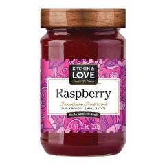 KITCHEN & LOVE RASPBERRY PRESERVES 12.3 OZ JAR