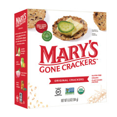 MARY'S GONE CRACKERS ORIGINAL CRACKERS 6.5 OZ BOX