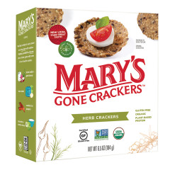 MARY'S GONE CRACKERS HERB CRACKERS 6.5 OZ BOX