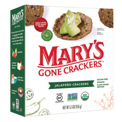 MARY'S GONE CRACKERS JALAPENO CRACKERS 5.5 OZ BOX
