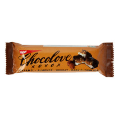 CHOCOLOVE CARAMEL ALMOND NOUGAT BAR 1.4 OZ