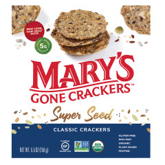 MARY'S GONE CRACKERS SUPER SEED CLASSIC CRACKERS 5.5 OZ BOX