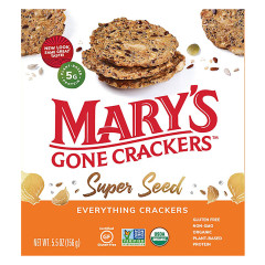 MARY'S GONE CRACKERS SUPER SEED EVERYTHING CRACKERS 5.5 OZ BOX