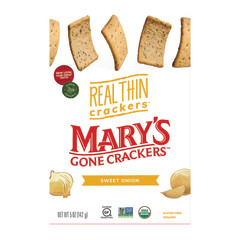 MARY'S GONE CRACKERS REAL THIN SWEET ONION CRACKER 5 OZ BOX