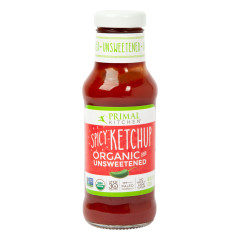 PRIMAL KITCHEN ORGANIC SPICY UNSWEETENED KETCHUP 11.3 OZ BOTTLE