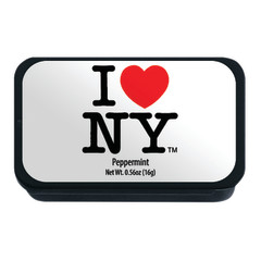 NYC SOUVENIR PEPPERMINT WHITE 0.56 OZ SLYDER TIN