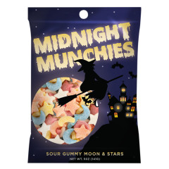 AMUSEMINTS GUMMY MIDNIGHT MUNCHIES 5 OZ PEG BAG