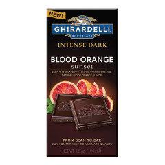 GHIRARDELLI INTENSE DARK BLOOD ORANGE SUNSET 3.5 OZ BAR
