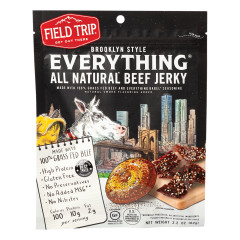 FIELD TRIP EVERYTHING BAGEL BEEF JERKY 2.2 OZ PEG BAG