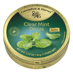 CAVENDISH & HARVEY CLEAR MINT DROPS 1.75 OZ TIN