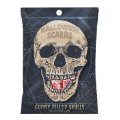 AMUSEMINTS HALLOWEEN SCARIES 5 OZ PEG BAG